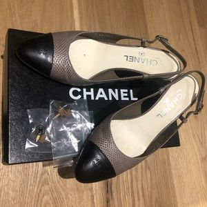 CHANEL slingback shoe - Size 39.5